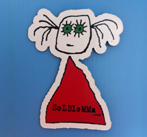 fridge magnet solblomma merchandise