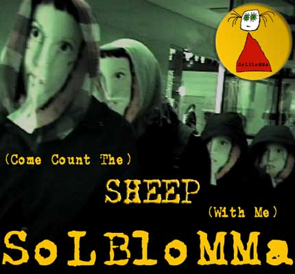 front cover - Solblomma - (Come Count the) Sheep (With Me) - Single